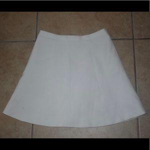 J. Crew White Business Skirt